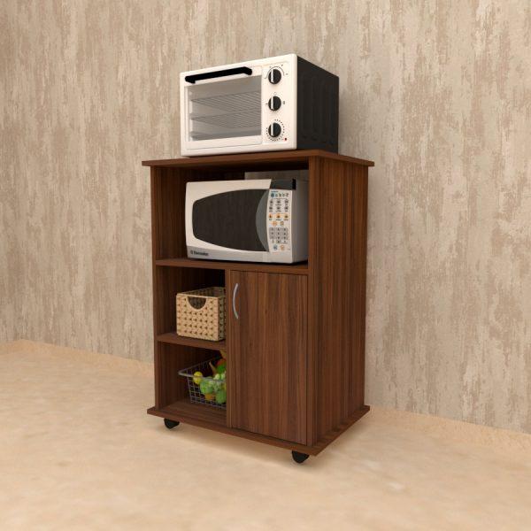 Exotic Teak finish kitchen unit for appliances